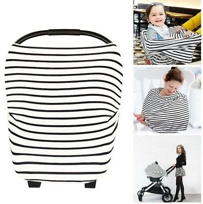Nursing Cover Scarf Baby Stroller Carry Cot Shade Stretchy for Breast Feeding