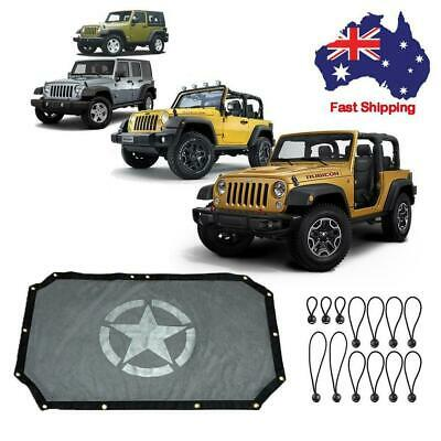 Eclipse Sun Shade UV Protection Mesh Top Cover For Jeep Wrangler JK 07-17 2/4 DR