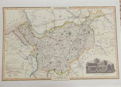Map of the County of CHESHIRE : 1840 Pigot and Co -  Reproduction