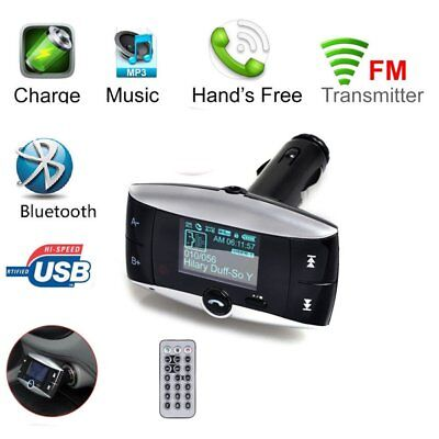 LCD Car Kit MP3 Bluetooth Player Hands-free Auto Radio FM Transmitter Modulator