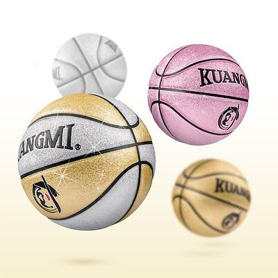 Kuangmi Colorful Child Basketball Fancy PU Leather Indoor/Outdoor Youth Size 5