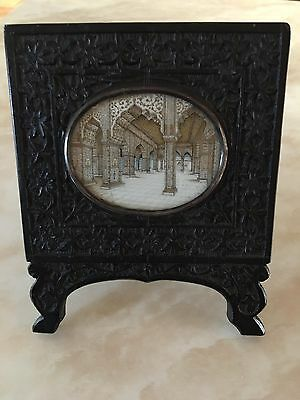 Ebony Framed Indian Miniature Painting 19th Century