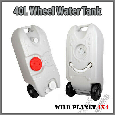 40L Portable Wheel Water Tank Grey Camping Caravan Storage Motorhome Waste Trans