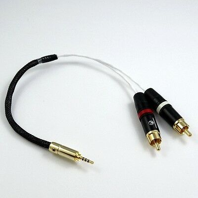 TRRS 2.5mm TO 2 RCA Male Audio Adapter Cable For Astell&Kern AK240 AK380 AK320