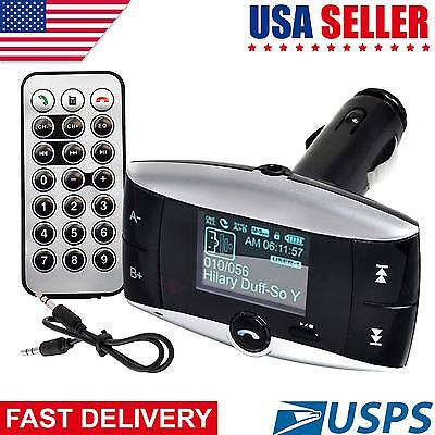 Bluetooth Car Kit MP3 Player Wireless FM Transmitter Modulator USB LCD SD Remote