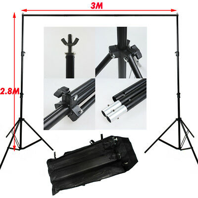 Heavy Duty Photo Studio 2.8x3m Backdrop Background Support Tripod Screen Stand