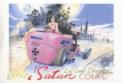Ex-libris Offset Pin-Up Sire, 1960 Satan Coupe