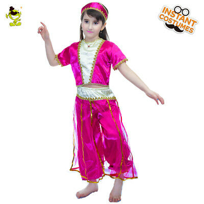 fdfbb9099a33 Deluxe Arabian Princess Costumes kids Arab Belly Dance Outfit for Carnival  Party