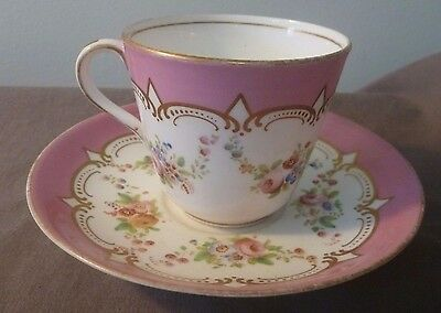 Antique Cup & Saucer, Handpainted. No makers mark