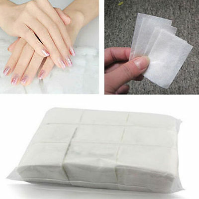 900X Lint Free Nail Art Manicure Polish Remover Cleaner Wipe Cotton Pads PapYV