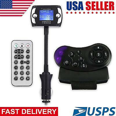 New Bluetooth FM Transmitter LCD Car Kit MP3 Player USB SD Card Wireless Remote