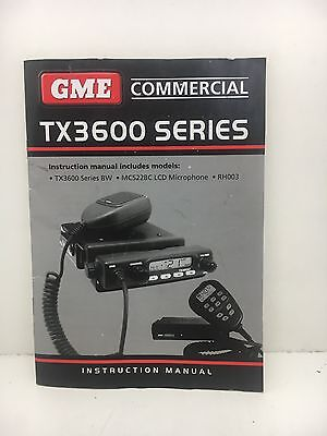 Globe Roamer GME TX3600 Series UHF Radio Owner's Instruction Manual