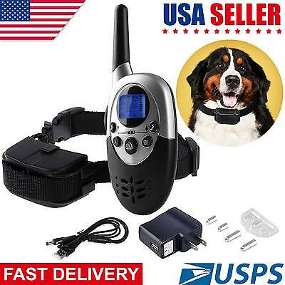 1000Feet Waterproof Vibrate Shock Remote Training Collar for Large Med Small Dog