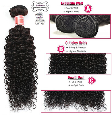 Soolde Extension Tissage Bresilien 100% Naturel Certifie Virgin Hair Remy 100G