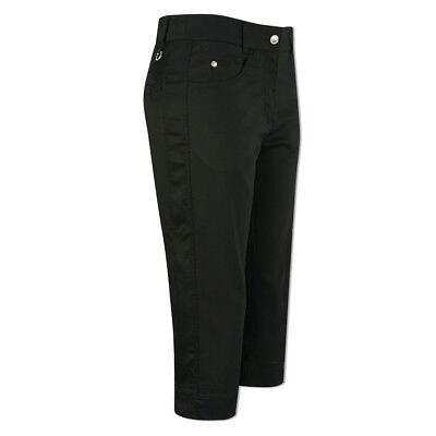 Daily Sports Soft-Touch Capris with Flattering Fit in Black