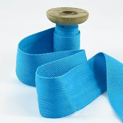 Turquoise acrylic webbing tape 38mm :: straps :: belting :: bag making (W004)