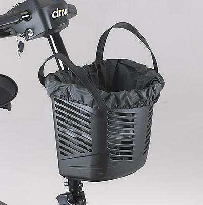 Mobility Scooter front bag and cover for basket (black)