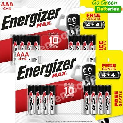 16 x Energizer AAA MAX Alkaline Powerseal Batteries - LR03 MX2400 MN2400 MICRO