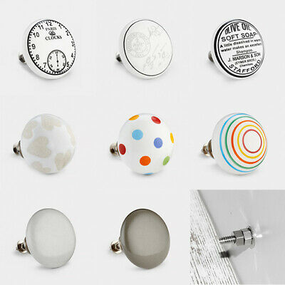 Oversized Large Vintage Colourful Ceramic Door Cabinet Cupboard Drawer Knobs