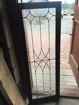 Sg 1501 4 Available Price Each Antique Leaded Glass Window 20.5 X 58