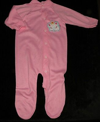 Pristine Vintage Gerber Baby Girls Sleeper Medium Made In U.s.a. Elephant