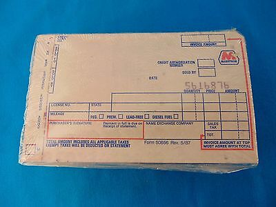 Unopened Brick Marathon Oil Company Charge Plate Credit Card Slips Carbons