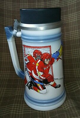 Gerz Hockey Beer Stein - Official Hockey Puck Lid - Made in Germany - Mug,Glass