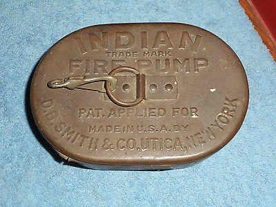 INDIAN FIRE PUMP D.B. SMITH & Co. Brass Strainer Can Vintage Pat. Applied For