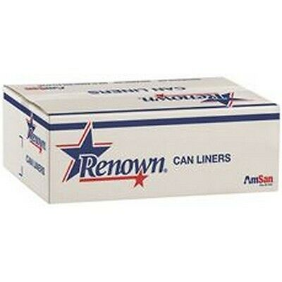 Renown REN64512-CA Can Liner 40X46 45Gl 1.25Mil Black 20/Rl 5Rl/Cs NEW