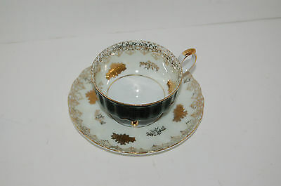 Cup and saucer Original Napco China Hand painted 3 footed cup sd151 Japan