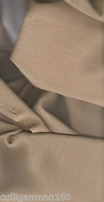 "1 - Suit-weight Polyester Linen 60"" x 5 yards in Taupe  (2017-120)"