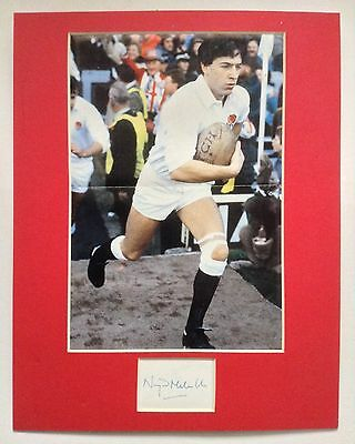Nigel Melville Signed Picture Mount Display England Rugby Union Autograph Wasps