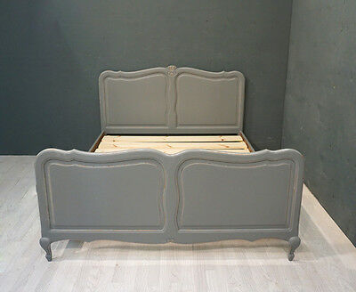 Vintage French Bed / Shabby Chic Double French Bed (BR304)