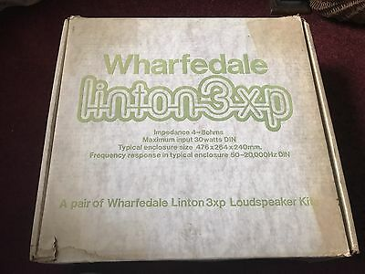 Vintage Wharfedale Linton 3XP Kit Main / Stereo Speakers - New Old Stock .