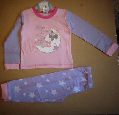 baby girls minnie mouse pyjamas(i love you)