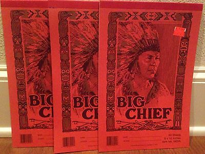 Lot of 3 ~ NEW Old Stock Big Chief Tablets ~ Mint ~ Carolina Pad and Paper Co
