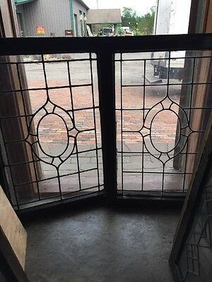 Sg 1503 2 Available Price To Each Leaded Glass Window 24.75 X 34.75
