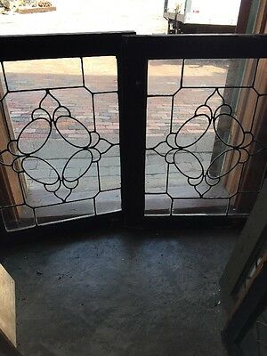 Sg 1508 Two Available Price Separate Antique Leaded Glass Window