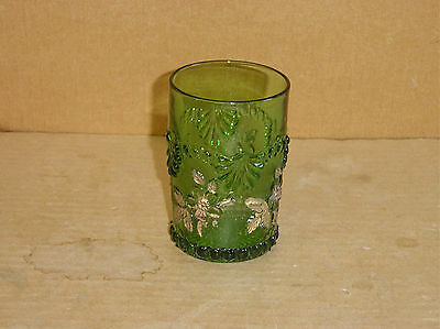 Eapg Green Single Rose Wild Rose Tumbler Northwood Dugan Westmorland Circa 1900
