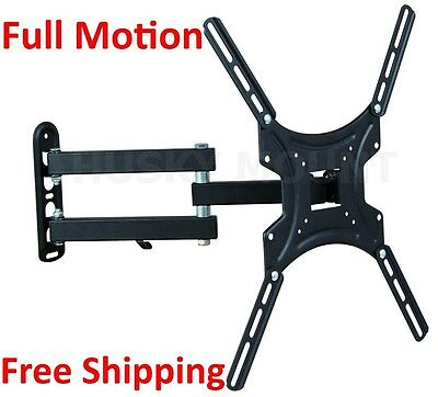 "Flat Screen Full Motion TV Wall Mount 32 39 40 42 47""LCD LED Tilt Swivel Bracket"