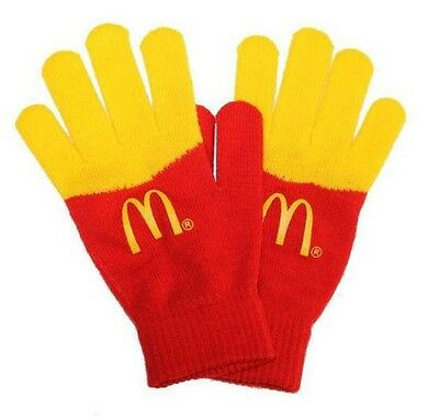 McDonalds French Fry Winter Drive-Thru Crew Employee Gloves Mittens - New in Bag
