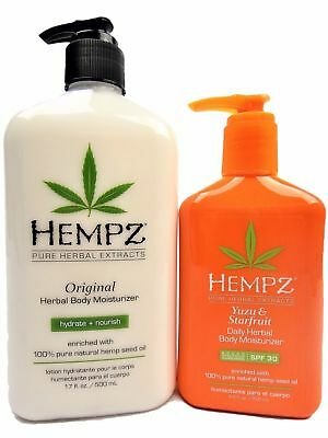 2= Hempz Original Herbal Body Moisturizer Lotion + Yuju & Starfruit Daily SPF 30