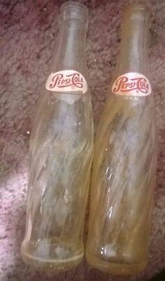 Vintage pepis cola soda bottle lot (1960s)