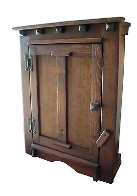 Handmade Arts & Crafts, Mission, Southwest,Victorian Wood Wall Mount Cabinet
