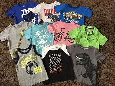 Baby Boys T-shirts Size 18-24 Months Oshkosh Carter's Old Navy Crazy 8 Lot