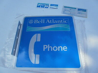 Nos Bell Atlantic Telephone Sign And Dial Cards