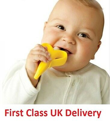 Silicone Bendable Banana Teether ring Baby Training Toothbrush Infant Toddler