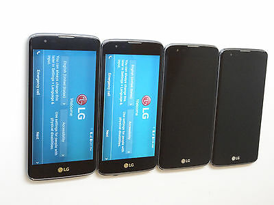 Lot of 4 LG K7 K330 T-Mobile Smartphones All Power On AS-IS GSM *