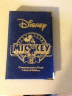 """Disney's Mickey 60 YEARS """"Steamboat Willie"""" .999 SILVER Coin 1988 Rarities Mint"""