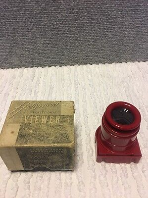 Vintage Red Hollywood Professional Viewer Slides Craftsman Guild Co.with Box